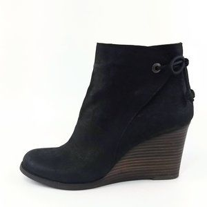 Lucky Brand Yamina Wedge Zip Ankle Booties 9.5M